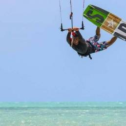 star kiteboard showing some tricks